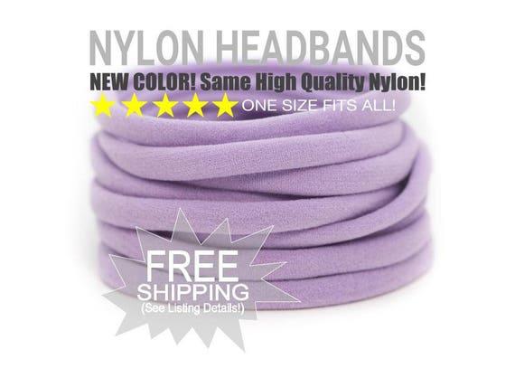 LILAC Bulk Nylon Headbands / WHOLESALE Nylon Baby Headband / Wholesale Spandex Headband / Skinny Very Stretchy One Size Fits most Nylon