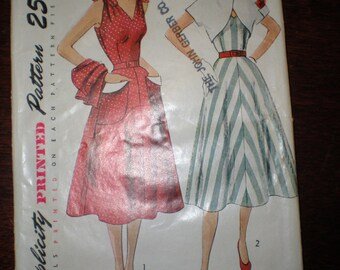 1950's Sundress with Bolero Jacket Sewing Pattern Size 13 Bust 31 SIMPLE TO MAKE Simplicity #3490