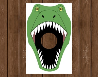 Dino Toss, Feed the T. Rex, Dinosaur Birthday Party, Dinosaur Game, Dinosaur Theme, Instant Download, Printable Party Game, 016