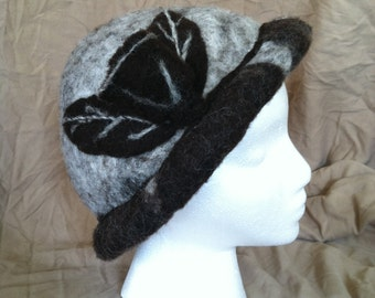 Hand Felted Hat-Brown Rose