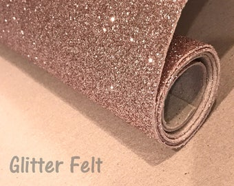 Champagne Gold Glitter Felt Sheets for Hair Bows and Craft