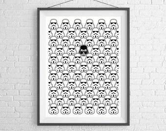 Star Wars - Stormtrooper - Darth Vader - Empire - Art Print - Wall Art