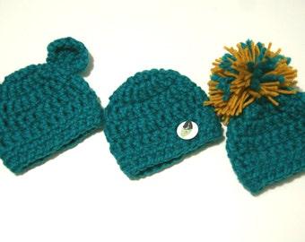 Baby hat crochet, newborn hat, crochet baby beanie, baby beanie pom pom crochet, newborn green hat