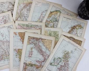 Europe Map Print Art Vintage, Antique Map Prints Vintage, Europe Map Poster, Vintage Map Poster, Vintage Map Wall Art Map - E407