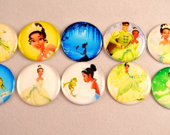 "10 pcs. PRINCESS TIANA 1"" flatback cabochon Hair bow centers embellishments The Princess and the Frog"