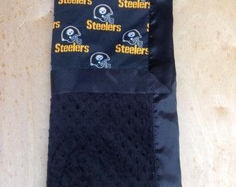 30x36 Blanket - Steelers/ Black