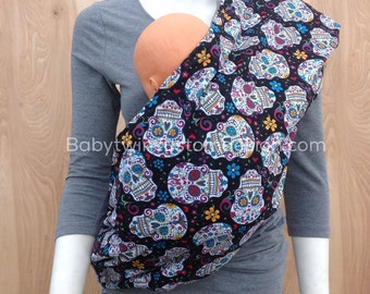 Sling Baby Carrier- Flokoric Skulls