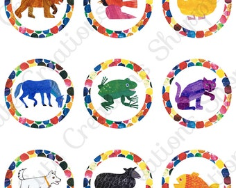 Brown Bear Birthday Party Cupcake Toppers