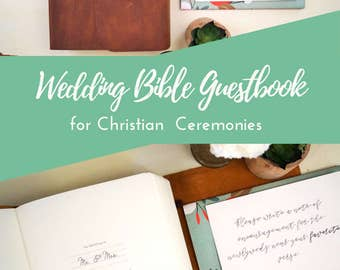 Wedding Bible Guestbook - Leather - Wedding Bible - Guest Book Alternative