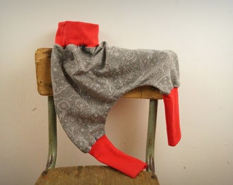 "harem pants / pants harem baby bio in (cotton) Heather Gray Sweatshirt ""manga"" and Red Raspberry"