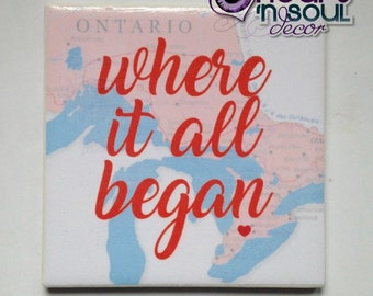 Where It All Began Relationship / Friendship Sign / Wall Art / Decor/ Plaque
