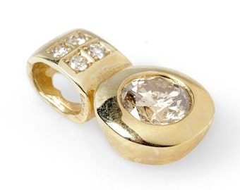 0.80 ct Diamond Pendant-Yellow Gold Pendant 14K-Gold Diamond Pendant-Women Jewelry-for her-anniversary gift-valentines gift-diamond necklace