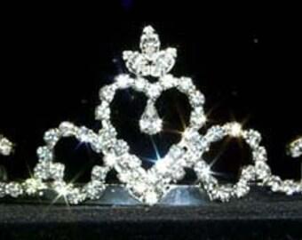 Crowned Heart Tiara #12573