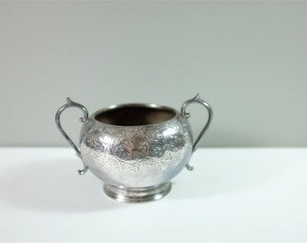 Vintage small silver plated bowl by Slater Brothers, Sheffield, England - Small bowl by Slater Brothers - Antique small decorative bowl