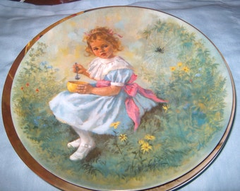 Vintage Plate, Little Miss Muffet, Third Issue, Mother Goose Series, McClelland, Reco, 1981, WAS 15.00 - 50% = 7.50