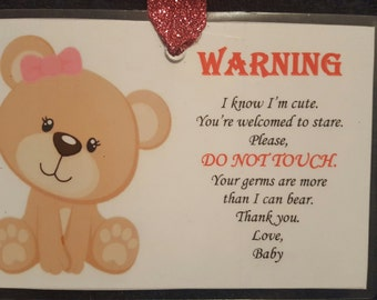 Girl Bear Warning Sign