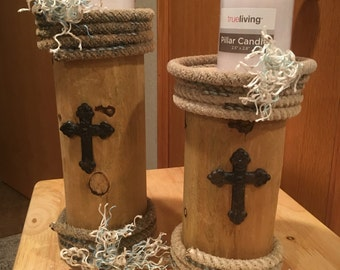 Fencepost candle holders