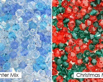 720 Pcs- Preciosa Crystal Bicone Beads 4MM Mixes - YOU CHOOSE!