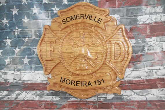 Firefighter,  Maltese Cross ,Firefighter Wood Carved, firefighter wedding gifts,  firefighter graduation gifts,