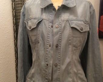 Authentic Vintage ladies Gianni Versace denim jacket.