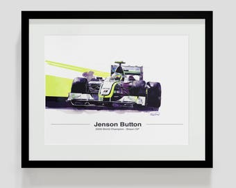 Jenson Button F1 Art - Brawn GP Edition 2