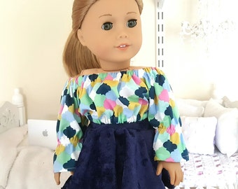 "18"" doll peasant blouse."