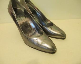 Silver Designer Heels