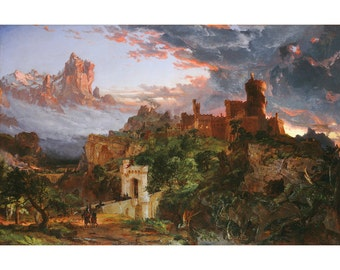 Spirit Of War, Landscape, American Oil Painting Print