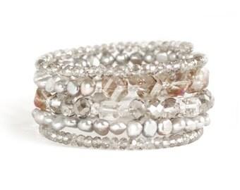 Twilight Beaded Multi Wrap Bracelet