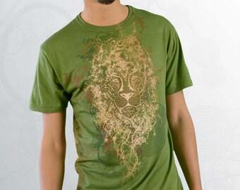 Men's Organic Bamboo T-shirt - Root Centric - Green