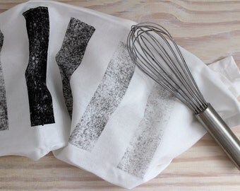 Chunky black gradient print tea towel