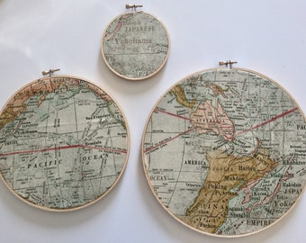 Embroidery Hoops/Maps