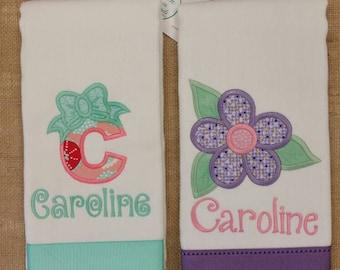 Baby Girl Burp Cloth, Monogrammed Burp Cloth, Personalized Burp Cloth, Girl Burp, Burp Cloths