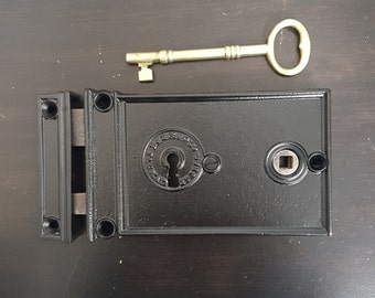 Large Entry Rim Lock Antique 531295