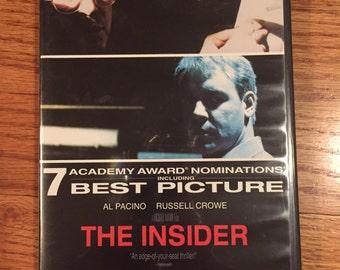 Vintage 90's The Insider Michael Mann DVD Video Movie