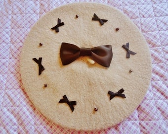 Cream Chocolate Kawaii Lolita Beret