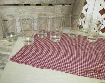 Vintage Wheat Etched Crystal Drinking Water Glasses Tumblers Set of 8 Beautiful Fine Crystal