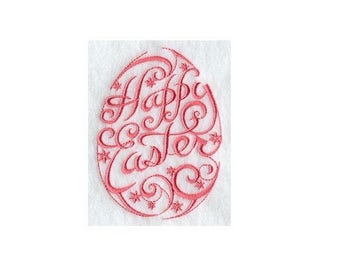 PAIR of hand towels - Happy Easter Egg -  15 x 25 inch for kitchen / bathroom MORE COLORS affordable accents