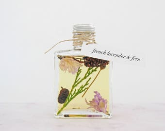 reed diffuser french lavender & fern | fresh, clean floral | 5 oz botanical home fragrance diffuser | new home gift | reed diffuser set