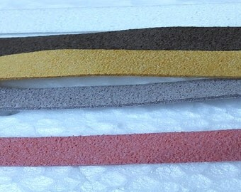 Faux suede flat cord
