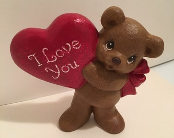 Ceramic I love you bear