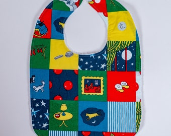 Bib Goodnight Moon. Baby Bib. Toddler Bib. Baby Shower Gift. Bib Gift Set. Navy Baby Bibs.