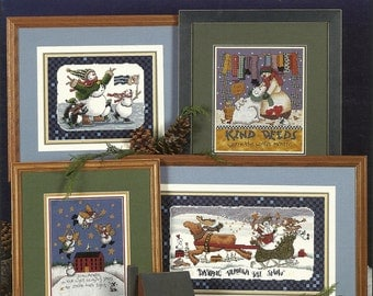 Stoney Creek:  Let It Snow and Snuggly Quilted Snowmen Cross Stitch Booklet