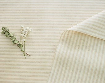 Laminated Linen Fabric 4 mm Stripe By The Yard