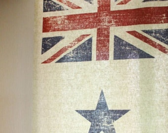 Linen Fabric Vintage Stars and Stripes By The Cut