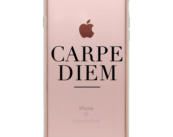 iPhone 6 Decals - iPhone 6 Plus Stickers - Quote Decal - Phone Sticker - Carpe Diem Sticker - Phone Case Sticker - Phone Decoration - Case