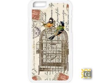 Galaxy S8 Case, S8 Plus Case, Galaxy S7 Case, Galaxy S7 Edge Case, Galaxy Note 5 Case, Galaxy S6 Case - French Postcard Birdcage