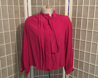 Sale: Vintage 1960s Christian Dior Silk Blouse Size 8