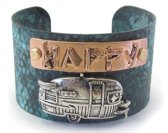 HAPPY CAMPER - Cuff Bracelet - FREE Shipping! 20.00