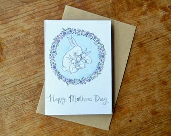 Mothers Day Card - Rabbit